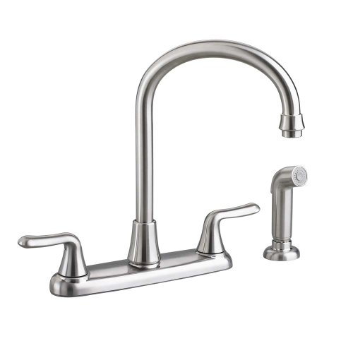 American Standard 4275.551.075 Colony Soft 2-Handle High-Arc Kitchen Faucet with Side Spray, Stainless Steel ()