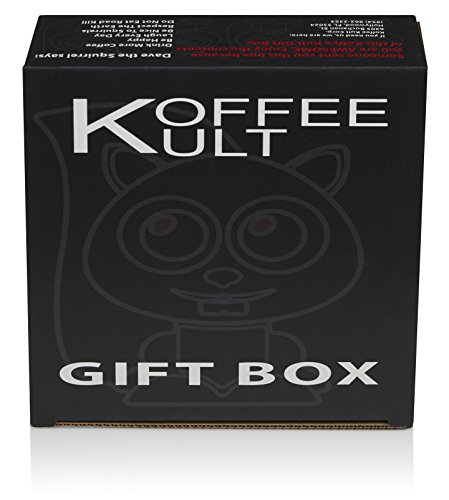 Koffee Kult Coffee Holiday Gift Basket - Variety of 3 Whole Bean Coffee - Dark Roast - Medium Roast - Harrar Coffees