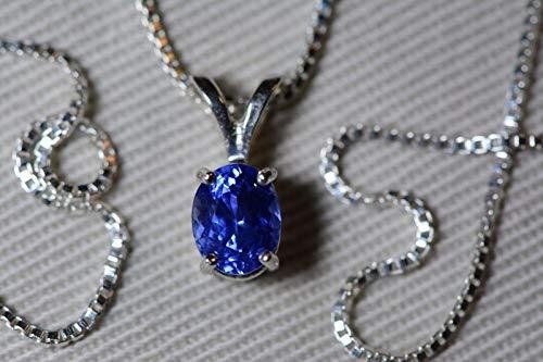Unheated Ceylon Sapphire Necklace, GIA Certified, 1.05 Carats, Sri Lanka Origin, Brilliant Cut ()