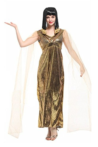 Seipe Adults Halloween Egyptian Couple Costumes Egyptian Queen&Guard Cosplay Outfits