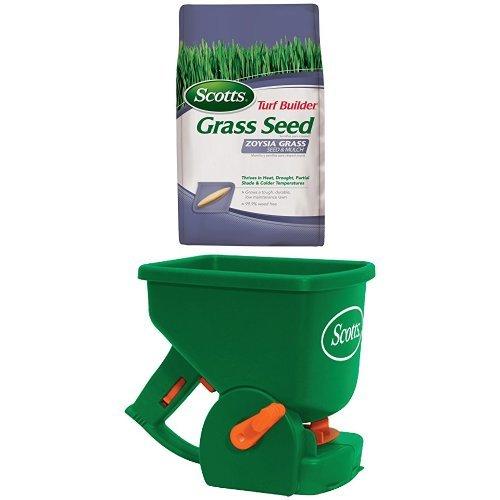 Zoysia Grass Seed & Mulch and Spreader Bundle (Mulch Spreader)