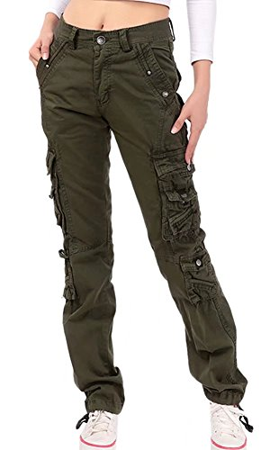 NAWONGSKY Women's Outdoor Utility Military Loose Fit Cargo