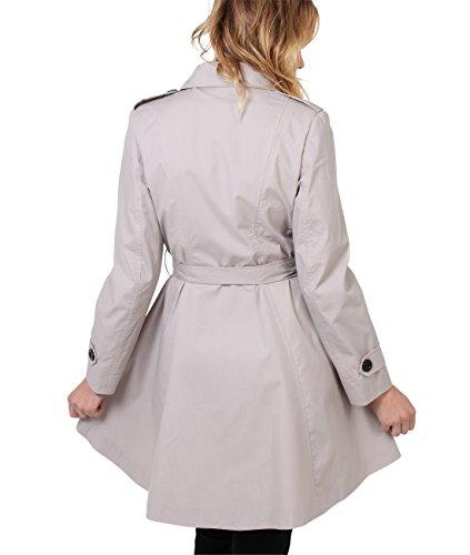 Manteau Classique Trench Chic Beige 3091 Elgant Femme KRISP Coton 5qwPZZ