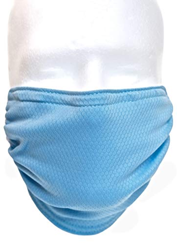 BioBoost Washable Adjustable Antimicrobial Dust Pollen Reusable Surgical Mask (Blue)