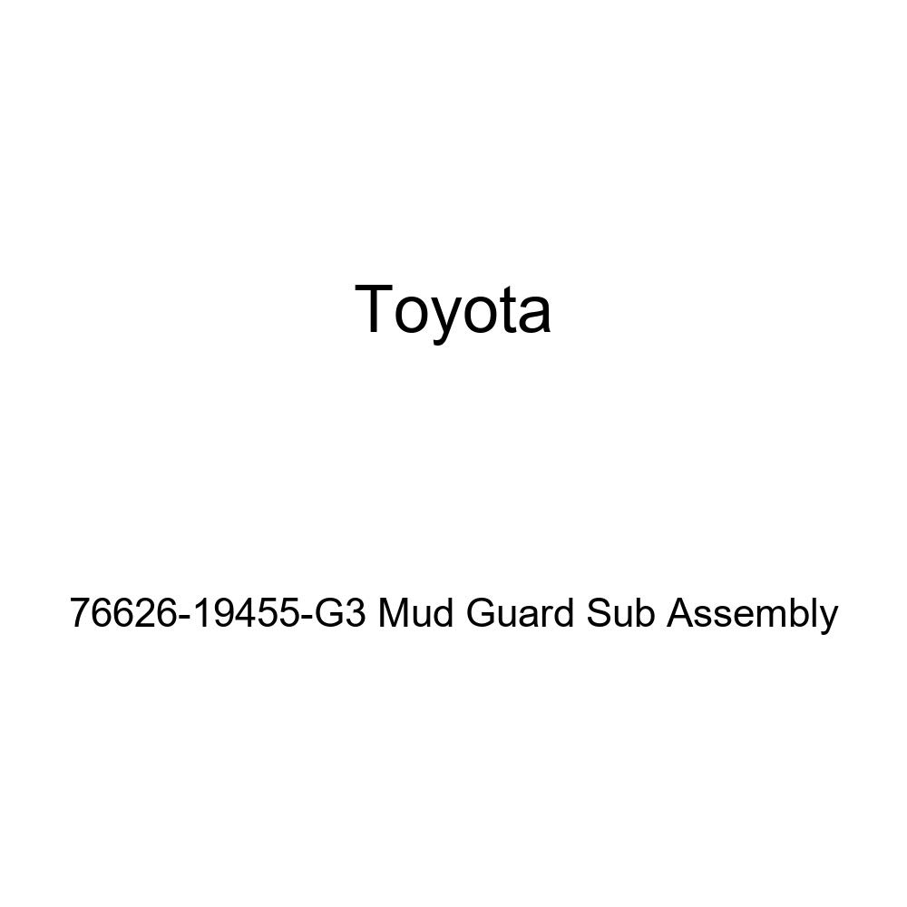 TOYOTA Genuine 76626-19455-G3 Mud Guard Sub Assembly