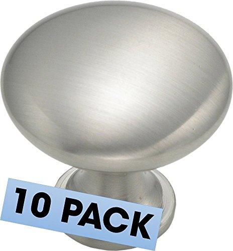 Cabinet Round Knob 1-1/4-inch Diameter 1-1/4-inch Diameter, Satin Nickel (Satin Nickel Mushroom Knobs)