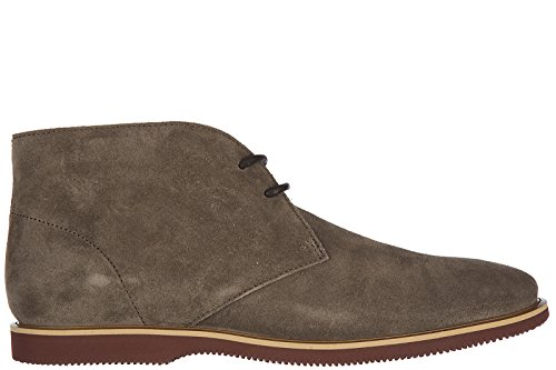 Hogan Stivali In Pelle Scamosciata Desert Boots Stringati H262 Marrone