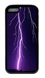 IMARTCASE iPhone 5C Case, Tornado Lightning Storm Durable Case Cover for Apple iPhone 5C TPU Black