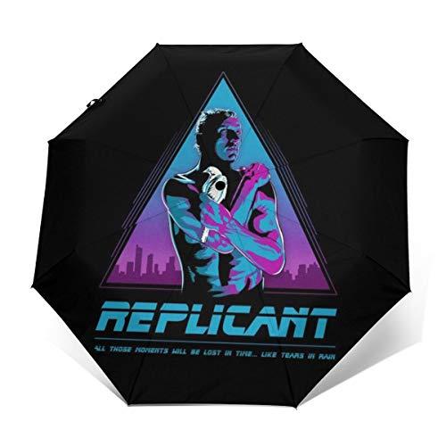 Like Tears In Rain Blade Runner Windproof Compact Auto Open And Close Folding Umbrella,Automatic Foldable Travel Parasol Umbrella