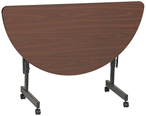 Table Half Round Top Folding (Correll FT2448MR-01 EconoLine Flip Top Table, 24
