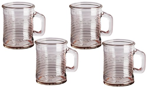 Circleware Canned Can Shaped Glass Mini Drinking Mugs/Shot Glasses, Set of 6, 5 oz, Clear ()