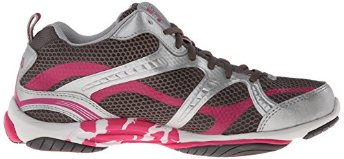 Training Enhance Ryka Chrome 2 Pink Grey Shoe Zuma Cross Metallic Steel Women's Silver zBnrwUn