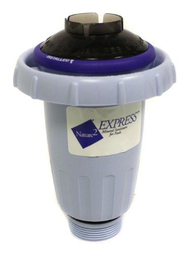 Sanitizer Vessel (NATURE2 W28175 Express Above/InGround Vessel Pool Mineral Sanitizer Cartridge)