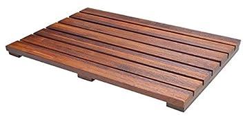 luxury teak bath mat with non slip feet u0026 natural mildew resistance for a hotel bathmat - Teak Bath Mat
