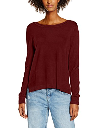 Only Onlmila L/S Pullover Knt, Suéter para Mujer Rojo (Syrah)