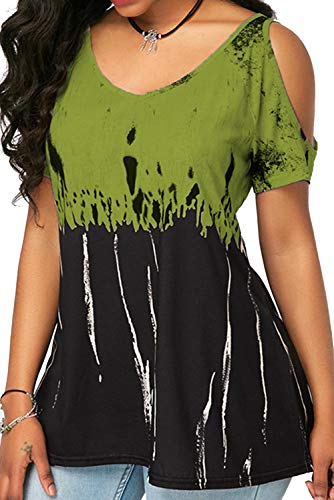 T Camisetas Tops Grandes 1 Sin Tallas Verde11 Camiseta Elegante Básica Blusa Shirt Manga Tirantes Mujer Verano Bienbien De Corta pqFwxfZf