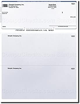 500 Computer Checks on Top Compatible for QuickBooks Brown Marble Printed