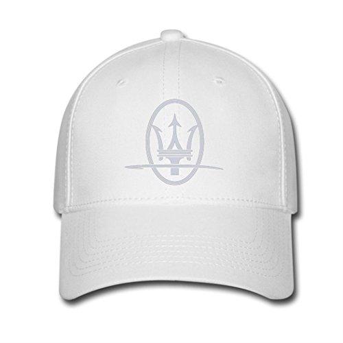 Price comparison product image Adjustable Maserati Symbol Baseball Cap Running Cap White