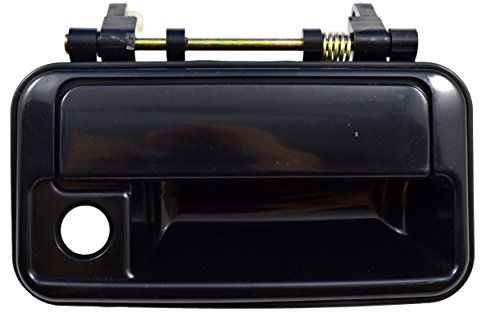 PT Auto Warehouse SZ-3218S-FR - Outside Exterior Outer Door Handle, Smooth Black - Passenger Side Front
