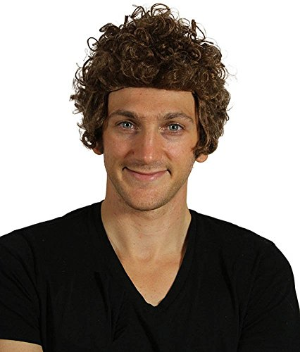My Costume Wigs Men's Bob Dylan Wig (Dylan Brown) One Size fits all ()