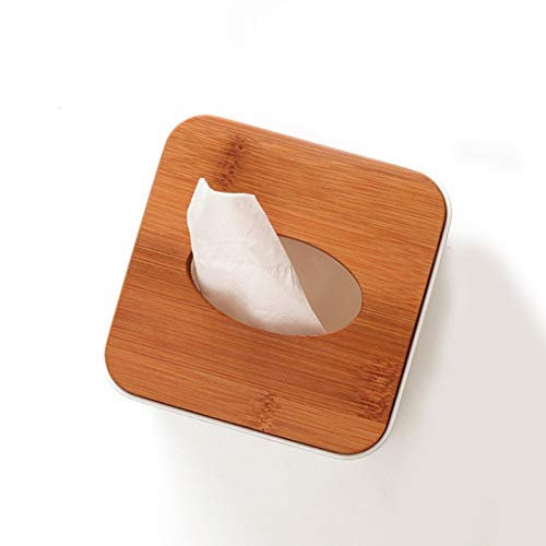 11 Ogquaton Wooden Tissue Box Cover Tissue Dispenser Holder Rectangle Cylindrical Cube Different Shaped Open Bottom 11 8.5cm Durable and Practical