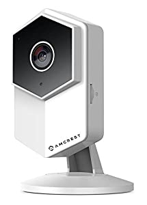 Amcrest ProHD Shield 960P (1.3MP/1280TVL) WiFi Video Security IP Camera with Two-Way Audio, microSD Recording, Super Wide 140° Viewing Angle, Full HD 1.3MP @ 30FPS and Night Vision IPM-HX1W (White)