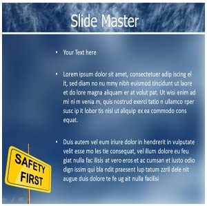 Amazon Com Safety Powerpoint Template Powerpoint Template For Safety Caution Powerpoint Templates Software