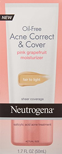 Oil-Free Acne Correct & Cover Pink Grapefruit Moisturizer by Neutrogena #6