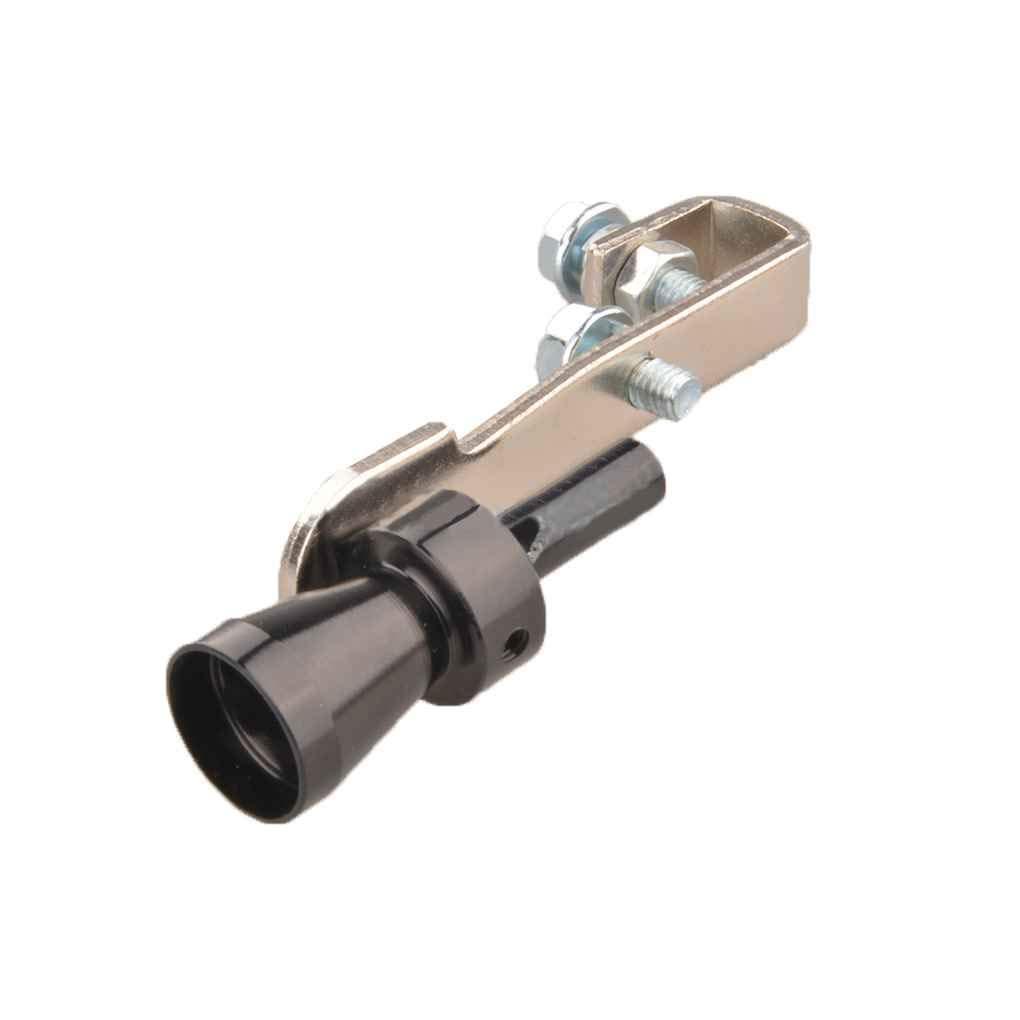 Busirde Universal Car Turbo Whistle Automobile Che ripara la Turbo Whistle del Tubo di Scarico Sound Turbo Tail Nero XL