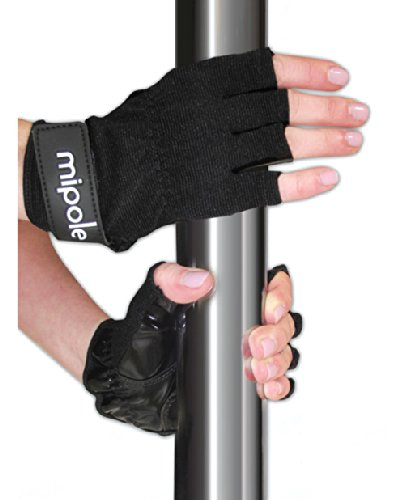 mipole dance pole Dancing Gloves with Tack Strips for Gripping the Pole (Medium)