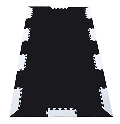 Wonder Mat Black Foam Tiles Exercise Equipment Protection Mats Extra Thick by Wonder Mat