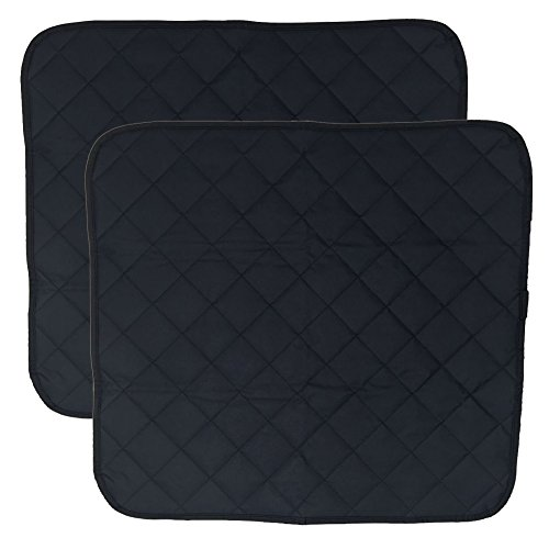 LUXEHOME Set of 2 Waterproof Cozy Seat Protector Cushion 22x21 Inch (Blue)