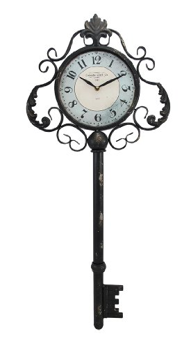 Things2Die4 Decorative Antique Key Shaped Wall Clock