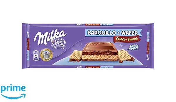 Milka swing tableta de barquillo de chocolate leche(e300g): Amazon.es: Alimentación y bebidas