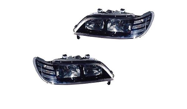 Amazon Acura Cl 97 98 99 Black Bezel Headlight Head Light Set Automotive