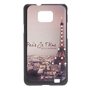 Eiffel Tower Pattern Hard Case for Samsung Galaxy S2 I9100
