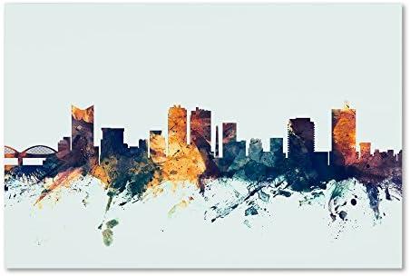 Fort Worth Texas Skyline Blue