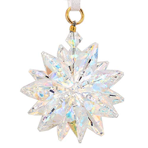 Austrian Christmas Tree Crystal - J'Leen Aurora Borealis Suncluster with Austrian Crystal
