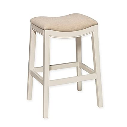 Swell Amazon Com Kenton 30 Inch Backless Bar Stool In White Inzonedesignstudio Interior Chair Design Inzonedesignstudiocom