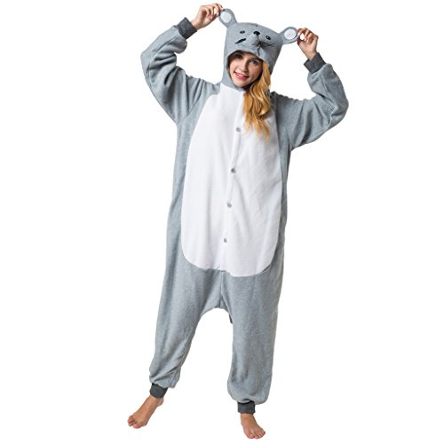 Katara 1744 - Kigurumi Pijamas Disfraz de Animal - Traje de Noche con Capucha - Adultos Unisexo - Ratón, S: Amazon.es: Juguetes y juegos