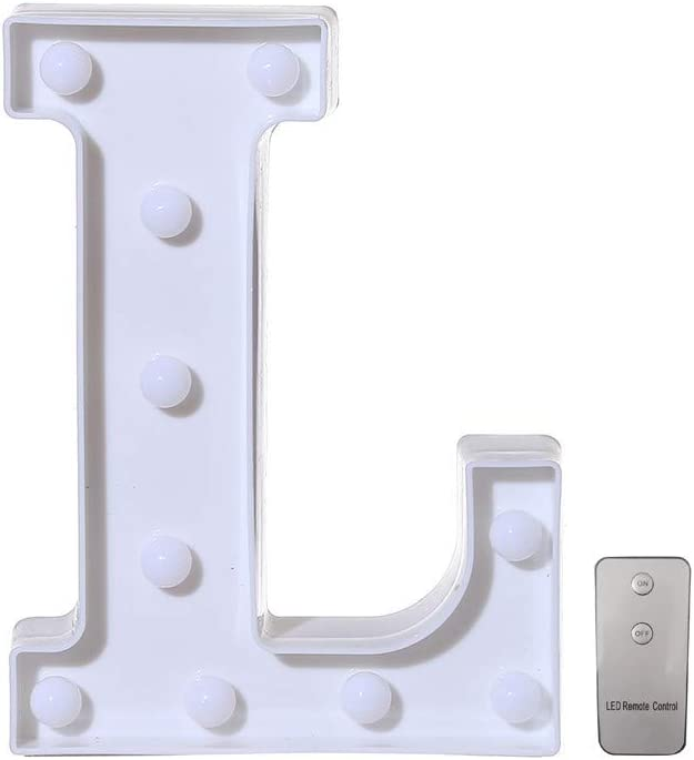 0-9 Numbers A-Z Alphabet Lights LED Light Up White Warm Plastic Standing Hanging