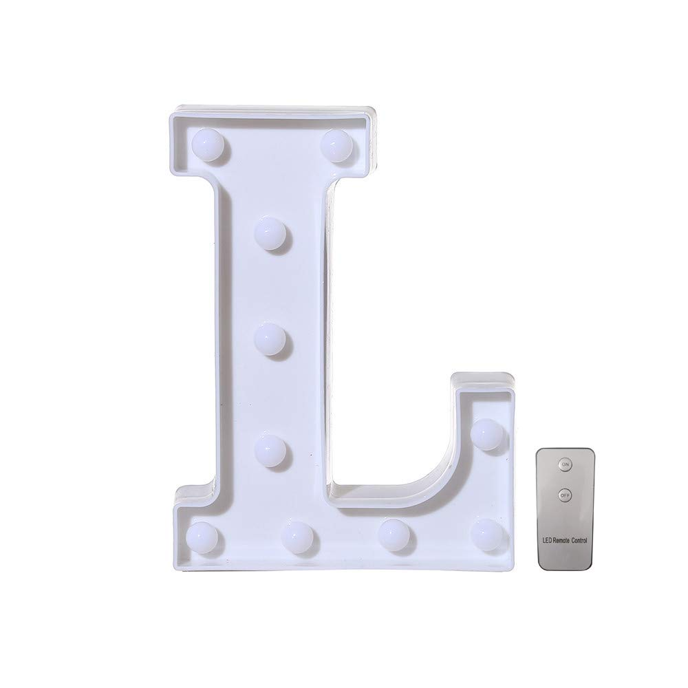 F Decoraci/ón luminosa hogar decorativa digital 0-9 altura 22cm color blanco LED n/úmero de luz