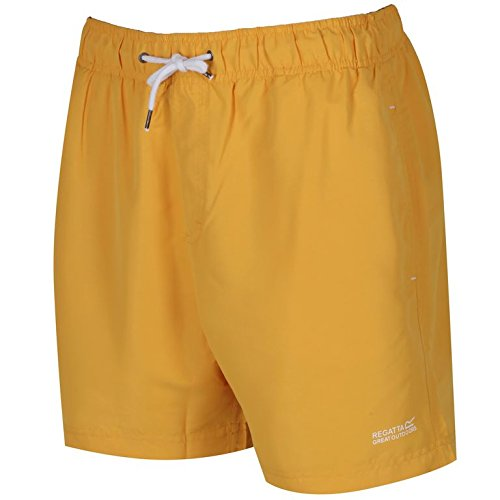 (Large, Old Gold) - Regatta Men's Mawson Swim Shorts