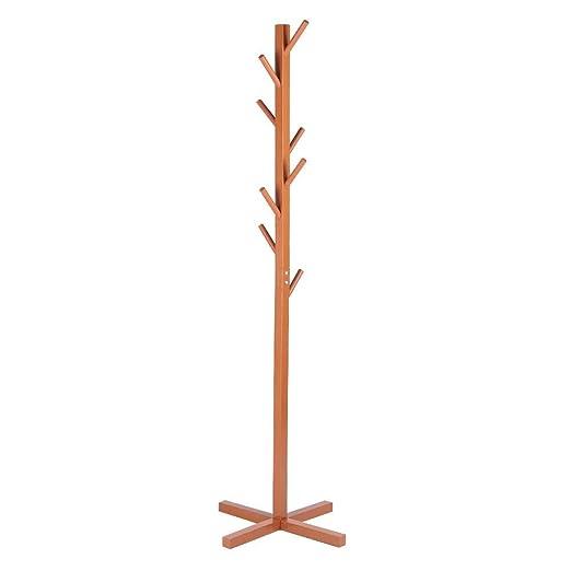 Perchero de Madera para árbol 8 Ganchos Perchero para Ropa ...