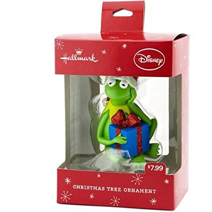 Amazon.com: Hallmark Disney Kermit the Frog with Gift Christmas Tree ...