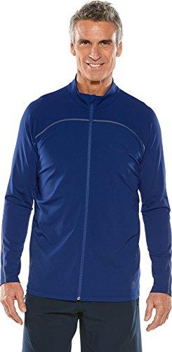 Upf Water - Coolibar UPF 50+ Men's Long Sleeve Water Jacket - Sun Protective (Large- Deep Blue)