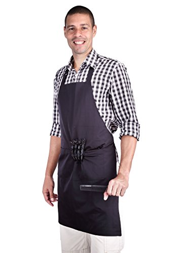 hiLISS Professional Hair Stylist Apron Black with Pocket ...