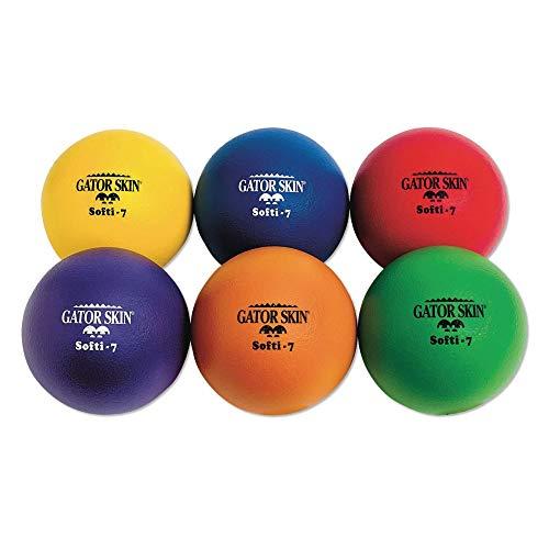 (S&S Worldwide UA025-6C Gator Skin Softi-7 Balls (Pack of 6))
