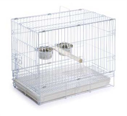 Prevue Pet Products Travel Bird Cage 1305 White, 20-Inch by 12-1/2-Inch by 15-1/2-Inch, My Pet Supplies