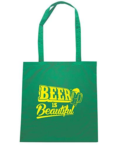 Speed Shirt Borsa Shopper Verde FUN0737 BEER IS BEAUTIFULAIL